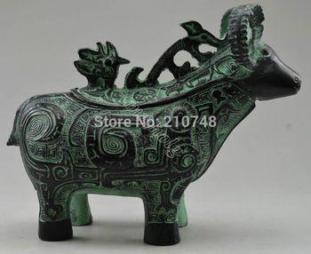Crafts statue Metal Crafts  China hand made bronze sheep statue Incense Burner
