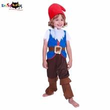 Купить с кэшбэком Eraspooky halloween costumes for kids Baby cute Girl kids costume halloweens mushroom elf costumes Boy Child Christmas Cosplay