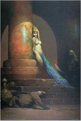 EGYPTIAN QUEEN - FRAZETTA ART SILK POSTER Decorative Wall painting 24x36Inch