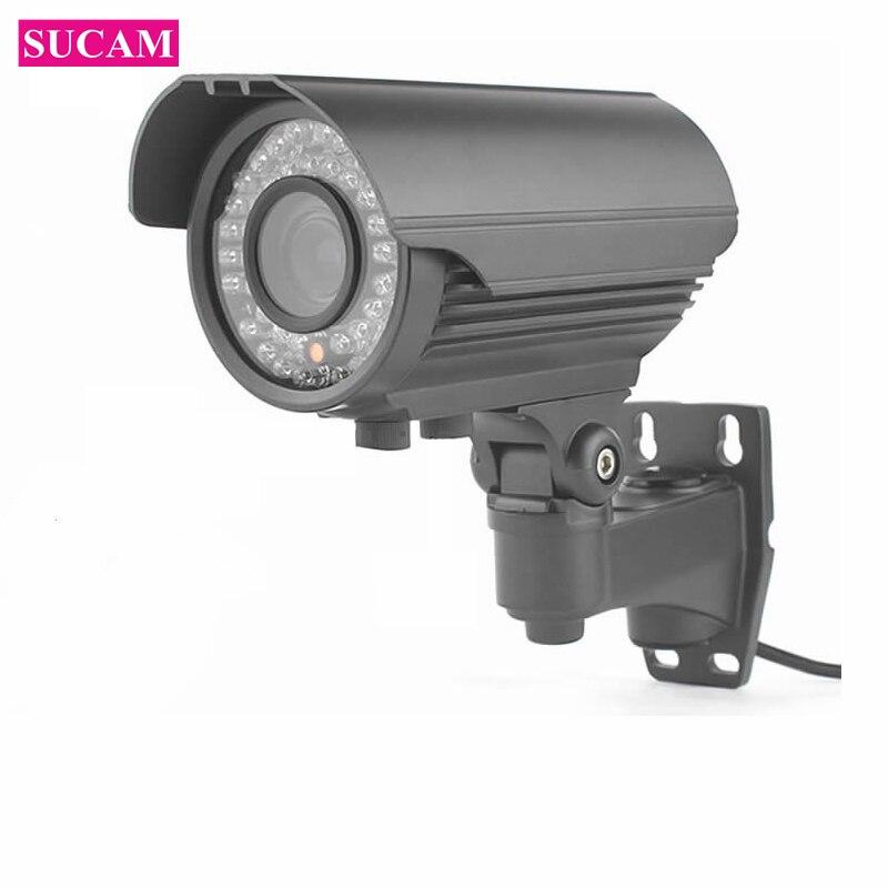 SUCAM варифокальный Full HD 2MP IP Камера открытый 2,8-12 мм ручной зум-объектив Водонепроницаемый проводной сети видеонаблюдения камера 4X зум
