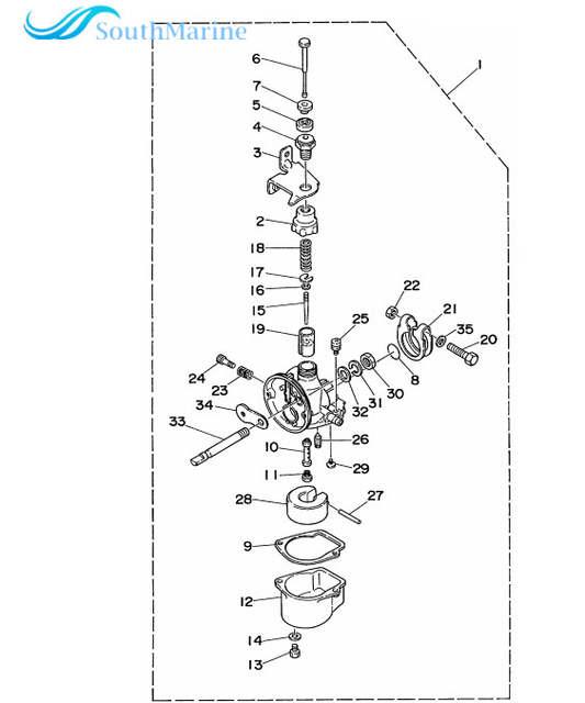 Online Shop Carburetor Repair Kit For Yamaha 2hp 2ms Outboard Motor