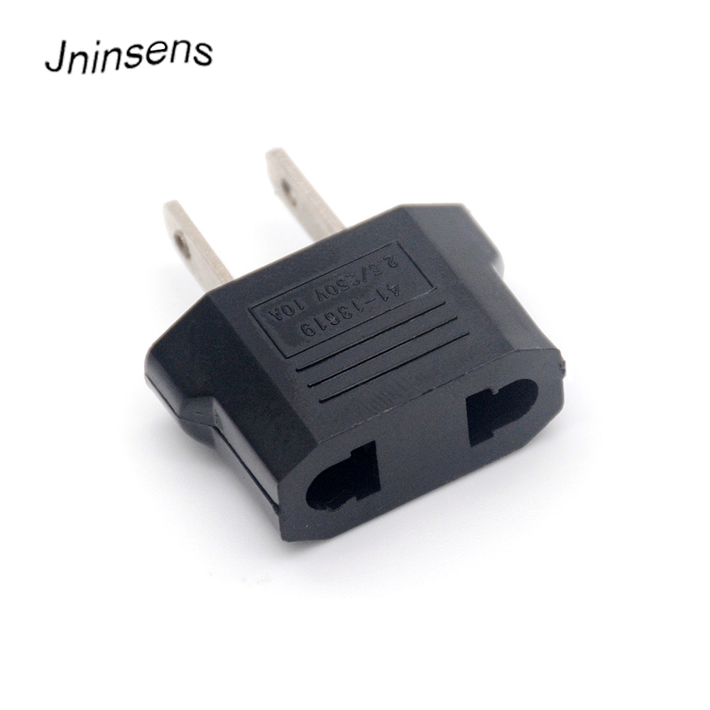Hot Sale 2Pin AU European Euro EU to US USA Plug Travel Charger Adapter Outlet Converter Wholesale