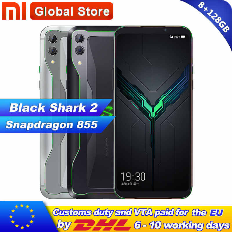 Xiaomi Black Shark 2 8GB 128GB ROM Snapdragon 855 Smarphone Game Mobile Phone Octa Core Dual Camera 48+12MP 4000mAh 19.5:9