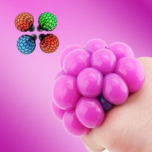 2019 Anti Stress Face Reliever Grape Ball Squeeze Relief Healthy Fashion Funny Tricky Toys Random delivery