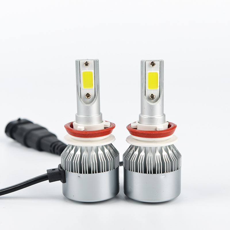 H4/H7/H11/H13/9005(HB3)/9006(HB4) COB LED Car Headlight Bulb Single/Hi-Lo Beam 8000LM 6500K DRL Auto Led Head Lamp Fog Light auxmart 72w pair h4 h13 hi lo beam cob chips 8000lm car led headlight bulb h7 9005 hb3 9006 hb4 h11 h8 h9 6500k lamp