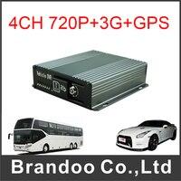 AHD HD 720P SD 4CH 3G GPS Car Dvr Free Shipping 4 Channel SD Mobile Dvr