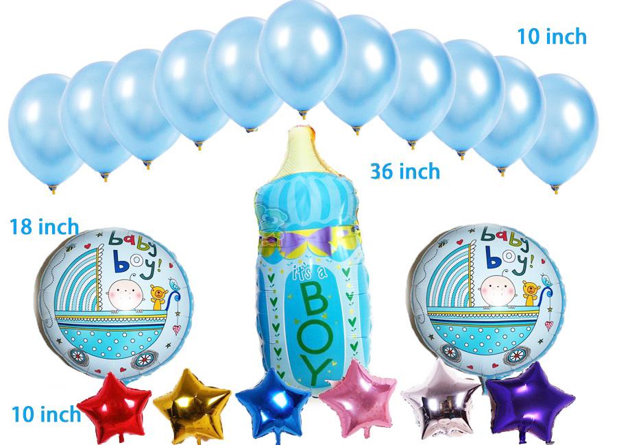 Korduvkasutatavate õhupallide komplekt lapse sünni puhul – 20 tk komplektis