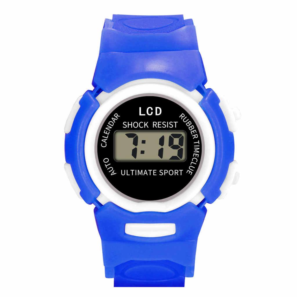 Çocuklar saatler Kızlar Analog Dijital Spor LED Elektronik Su Geçirmez kol saati Yeni çocuk saatler montre enfant