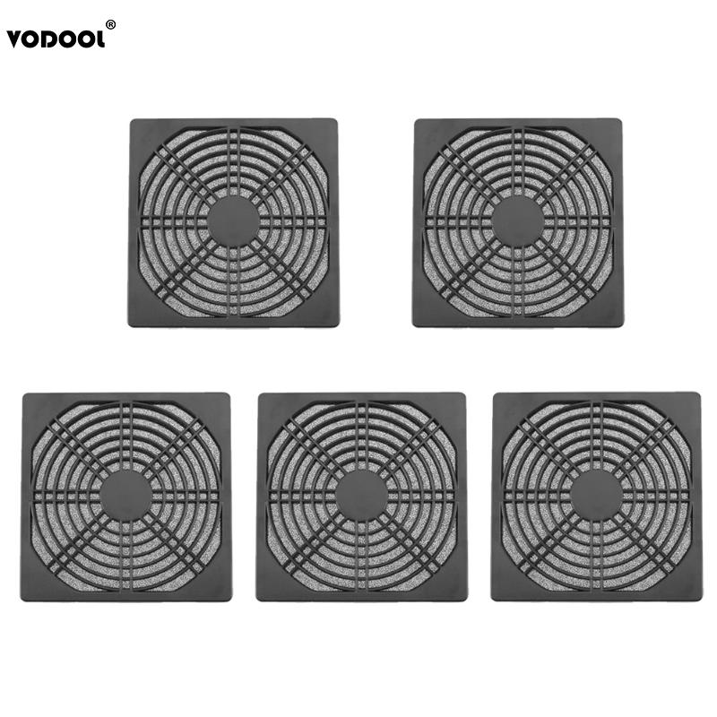 5Pcs 120mm PC Case Fan Dust Filter Guard Grill Protector Cover Plastic Computer Cooling Fan Cooler Radiator Dustproof Cover Net 2018 new hot 3pcs 140 120mm size computer pc case cooling fan magnetic dust filter dustproof mesh fan cover net guard 12cm 14cm