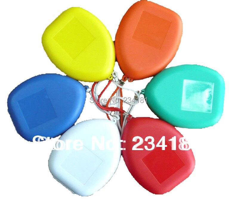 50pcs / lot Изкуствена дихателна маска, CPR маски, cpr маска клапан реанимация Custom лого