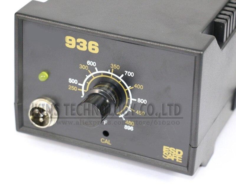 Ручная Регулируемая 936 паяльная станция Электрический паяльник сварочный Ремонт Инструменты 110 В/220 В 60 Вт