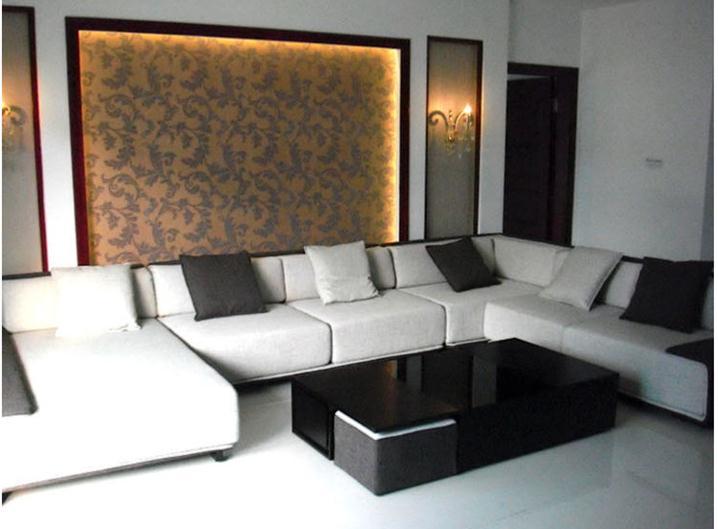 Divano Lino Grezzo : Ispessimento lino grezzo divano tessuto tinta unita di colore