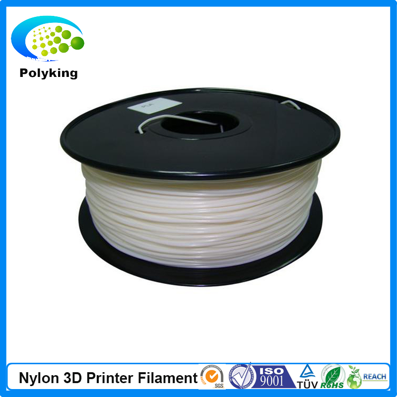 Free shipping white color 3d printer filament Nylon (PA) 1.75/3.00mm 1kg/2.2lb Material RepRap/Makertbot/Ultimaker/Up/Mendel pla filament 3 00mm 1kg 2 2lbs white color for 3d printer plastic reprap wanhao makerbot free shipping