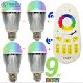 9W Milight Smart RGBW LED Bulb E27 + 2.4G RF Remote Controller 16 million color Dimmable Mi.light LED Lamp set AC85-265V