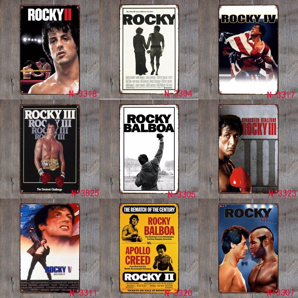 Rocky Vintage rétro métal fer peinture signes affiche Plaque Bar Pub Club mur Vintage décor à la maison Plaque 20*30 cm