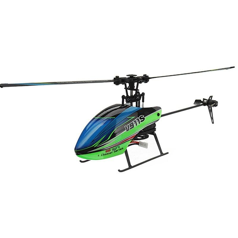 (С 3 батареями) Новая Популярная игрушка WLtoys V911S 2,4G 4CH 6 Aixs Gyro Flybarless RC вертолет RTF для начинающих детская игрушка - 2