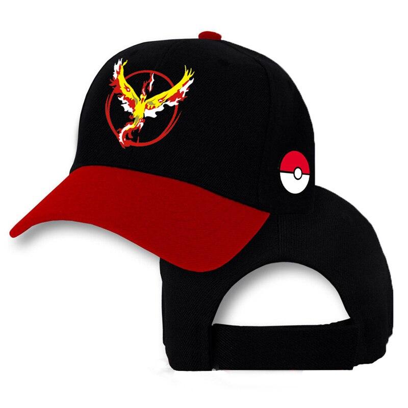 LongKeeper nueva Pokemon Go Snapback gorras de béisbol equipo Valor equipo  Mystic equipo Instinct Snapback Cap Hip Hop Cosplay sombreros en Gorras de  ... 51b79954bf0