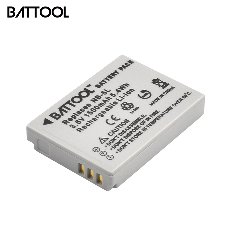 BATTOOL 1500mAh NB-5L Battery For Canon S100 SX210 SX220 SX230 HS SD800 SD850 SD900 SD950 IS SD970 IS SD990 IS