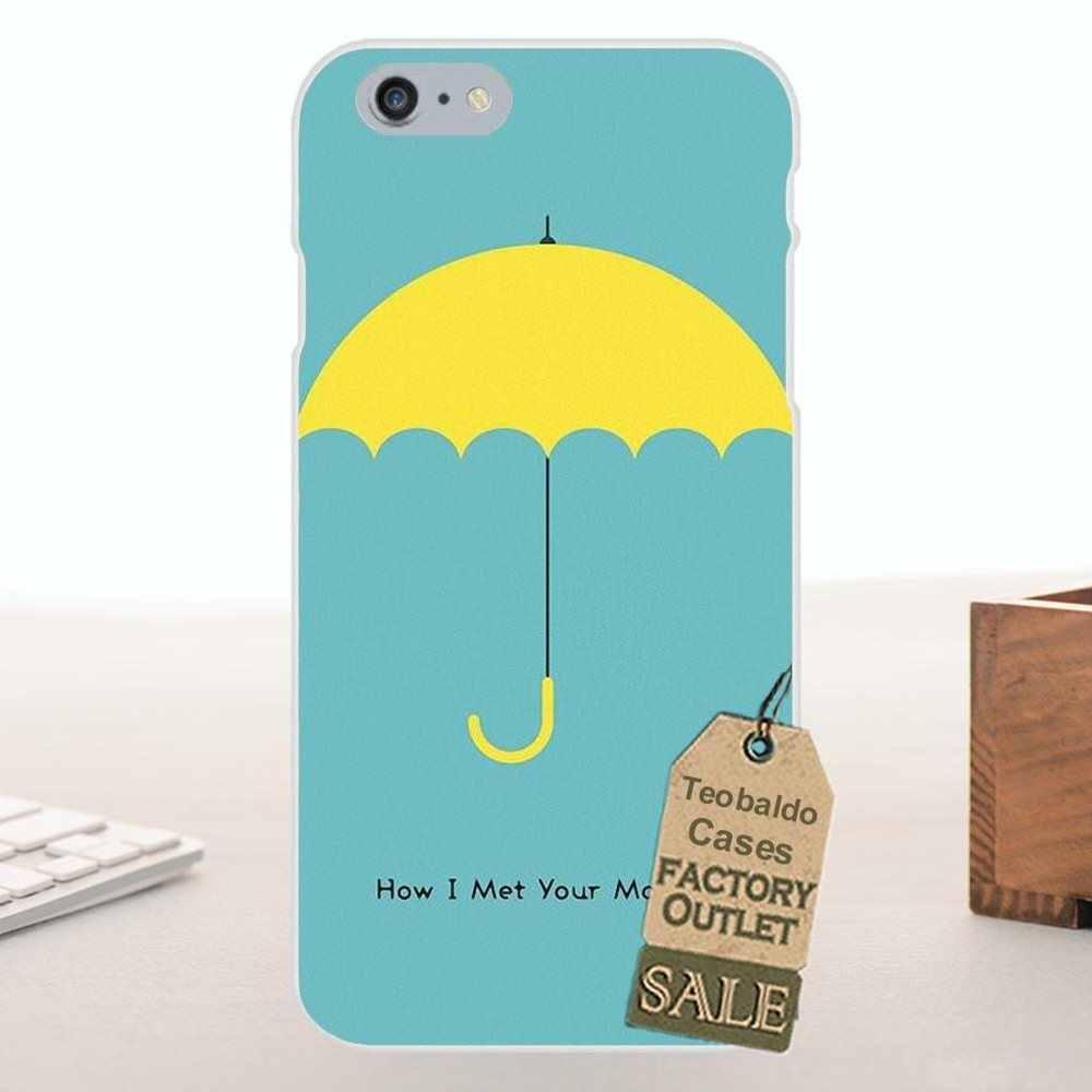 Morbida Originale Per Apple iPhone 4 4 s 5 5C SE 6 6 s 7 8 Più di X Per LG g4 G5 G6 K4 K7 K8 K10 Come HO Incontrato Tua Madre Ombrello Giallo