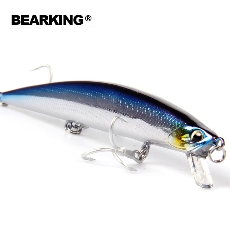 Venta al por menor 2016 buena pesca minnow de calidad profesional cebos 14 cm/18g bearking modelo caliente crankbaits penceil cebo popper