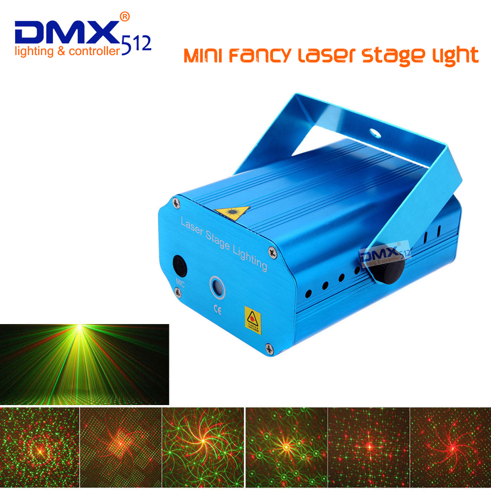 DHL free shipping Mini Fancy Stage light R&G laser AC110-240V Voice-control laser projector party entertainment disco Show DJ-BK x20pcs free shipping new stage light full color mini adjustment dj party wedding club projector ac 85 265v
