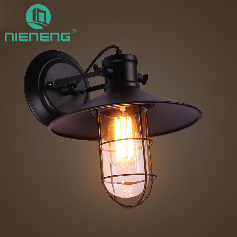 Nieneng Vintage Loft Adjustable Wall Lights Retro Lighting Wall Lamp Edison Bulb Country Style Corridor Club Lamp ICD60302