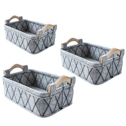 Nordic Style Felt Storage Basket Felt Sundry Receiving Basket Household Desktop Wardrobe Storage Baskets