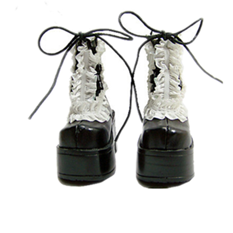 1/3 BJD Doll boots Black paragraph sd luts bjd dz boots - sd16 sd13 sticker winter sports
