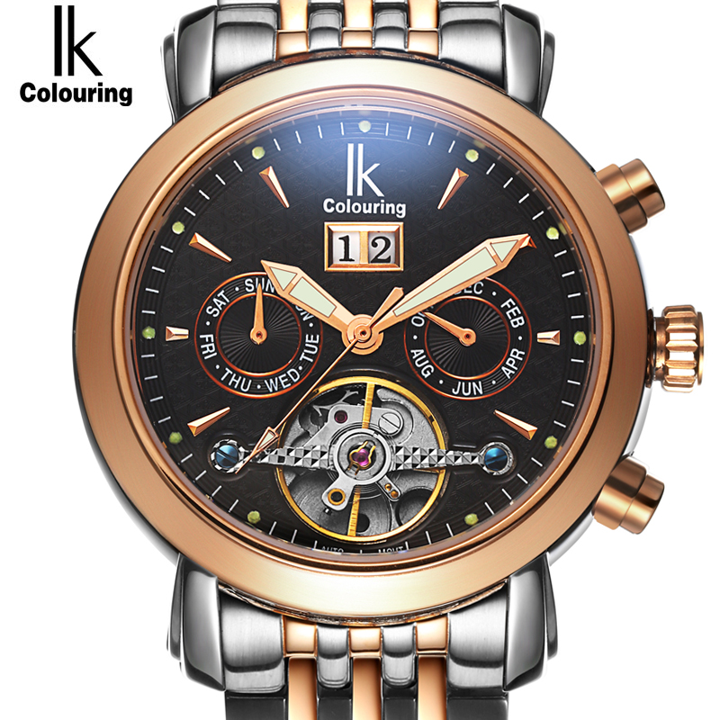 Mens Watches Automatic Mechanical Watch Tourbillon Clock Leather Casual Business Wristwatch Relojes Hombre Top Brand IK LuxuryMens Watches Automatic Mechanical Watch Tourbillon Clock Leather Casual Business Wristwatch Relojes Hombre Top Brand IK Luxury