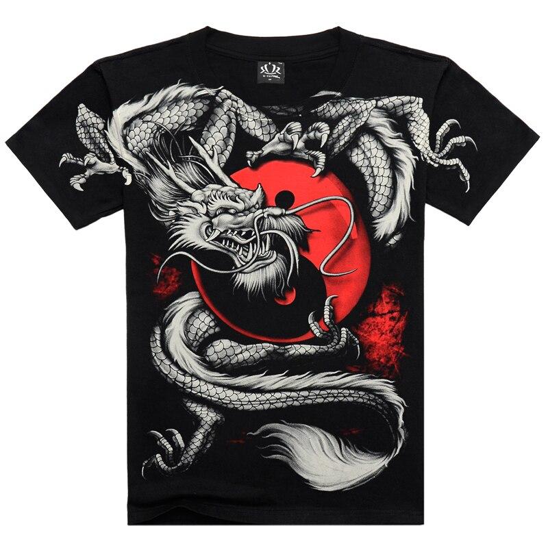 T     shirt   men 3D Summer style 3D   T     shirt   100% Cotton casual Tshirt Men clothes Pattern Fiery dragon 2015 Hot hip hop   t     shirt   men