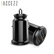 !ACCEZZ USB Car Charger Phone 3.1A Dual Quick Charging For iPhone X 8 XS MAX 7 Xiaomi Samsung Huawei Tablet Car-Charger