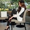 dabuwawa all-match slim casual black striped long pencil pants