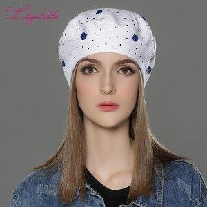 Image 2 - LILIYABAIHE, nuevo estilo, sombrero de invierno de lana angora, boinas de punto, colores sólidos, moda, la decoración más popular, tapas de rosas