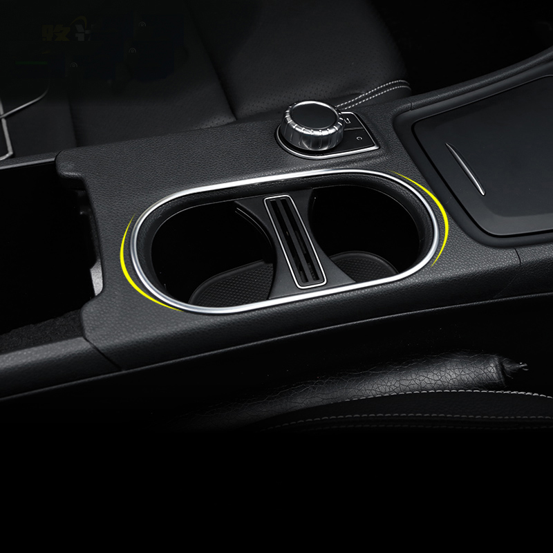 Car-Styling Inner Water Cup Holder Cover Trim strip sticker for Mercedes Benz CLA GLA A Class W176 C117 A180 14-17 Accessories