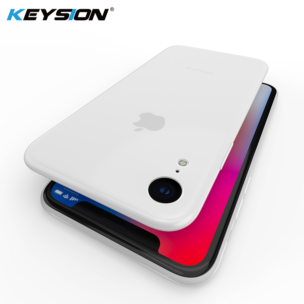 KEYSION Phone Case for iPhone XS Max XR Ultra thin 0 45mm Micro matte soft TPU silicone anti slip Back Cover for iPhone XR XS in Fitted Cases from Cellphones Telecommunications