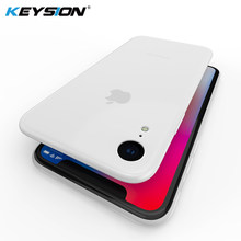 Funda de teléfono KEYSION para iPhone XS Max XR ultrafina 0,45mm micromate suave silicona TPU anti -funda trasera deslizante para iPhone XR XS(China)