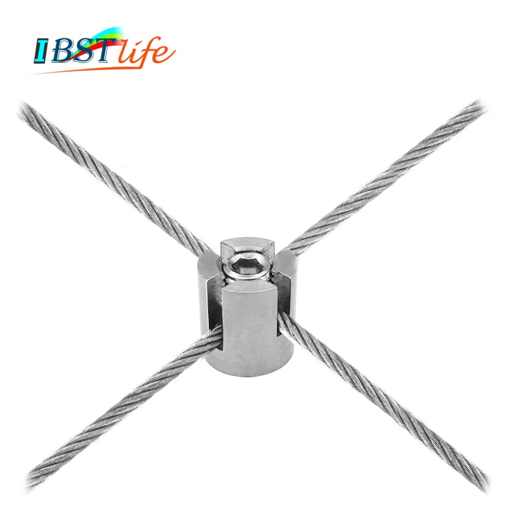 90 Degree Angles Marine Grade Stainless Steel 316 Wire Rope Trellis Systems Green Wall Cross Clip Rope Clamp