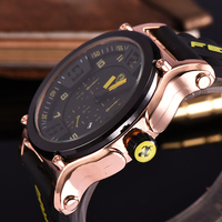 SCUDERIA FERRARI Fashion Watches Men Striped Resin Band Male Quartz Wrist Watches Top Brand Luxury Montre Homme R894637962