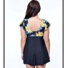 8XL Sexy One Piece Swimsuit 2017 Floral Print Plus Size Swimwear Large Size Swimsuits Women Bathing Suit Swim Dress Monokini