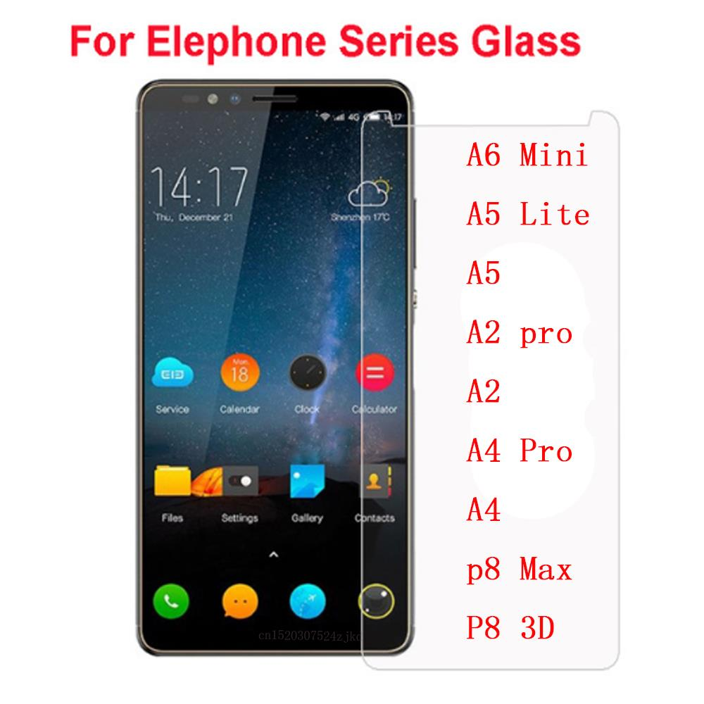 Elephone A6 Mini Tempered Glass High Quality Screen Protector Cover Film Protective For Elephone A5 Lite A2 pro A4 p8 Max 3D
