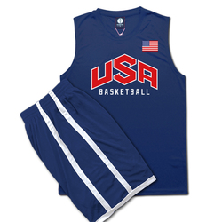 Men Basketball Jerseys Set Shorts Team USA Training Sports Quick Dry Running Suit Plus Size