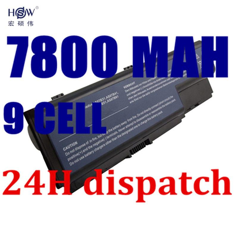 HSW 7800MAH laptop battery For Acer Aspire 5520 5720 5920 6920 6920G 7520 7720 7720G 7720Z AS07B31 AS07B41 AS07B42 AS07B72 for acer 7220 7520 5315 5720 7720 5520 5310 laptop cpu fan