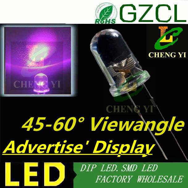 20 x LED 3mm Pure Green Diffused Ultra Bright Flat Top Wide Angle LEDs Light RC