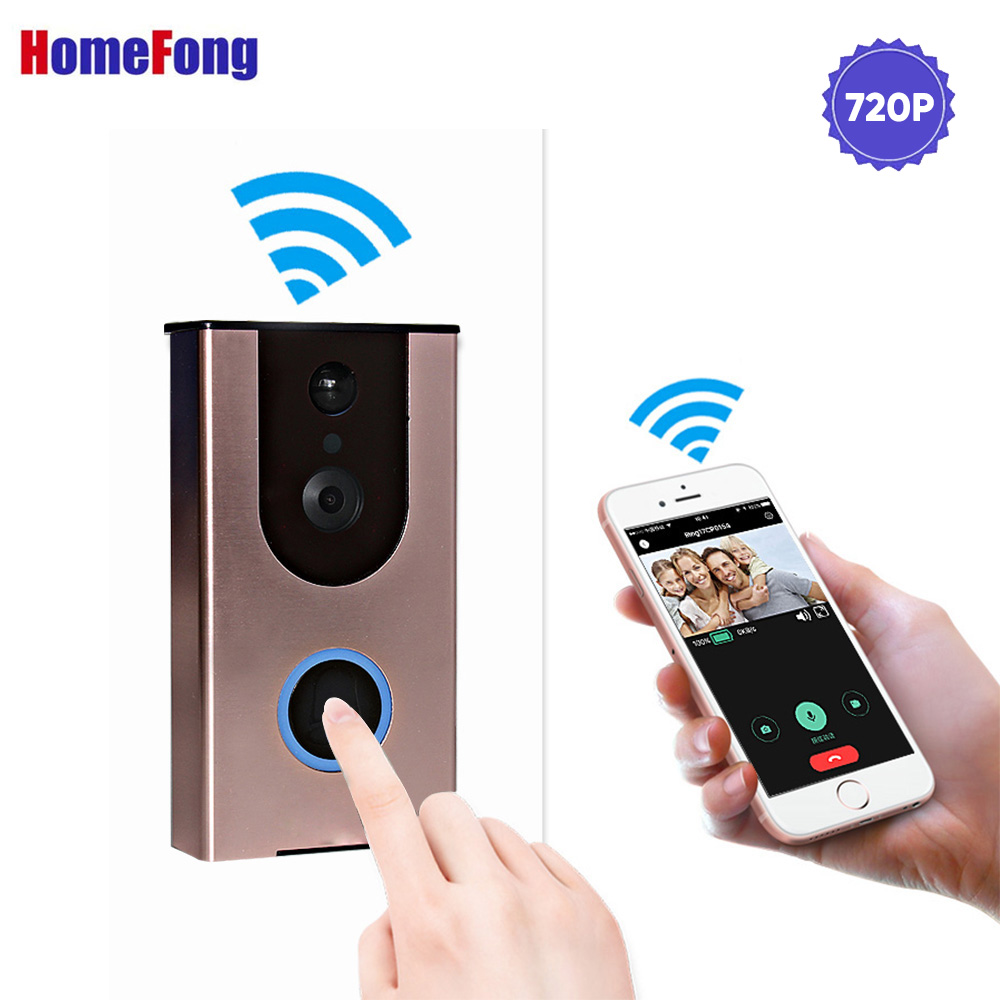Homefong HD Ring Video Door Phone Intercom Dual Way Talk 720P Wireless Doorbell Home Security USB Charge PIR Motion RecordingHomefong HD Ring Video Door Phone Intercom Dual Way Talk 720P Wireless Doorbell Home Security USB Charge PIR Motion Recording