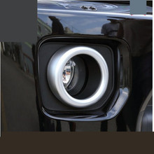 2 pcs ABS Chrome Car Front Fog Light Lamp Frame Decoration Stickers Car-styling Covers For Land Rover Freelander Discovery 4