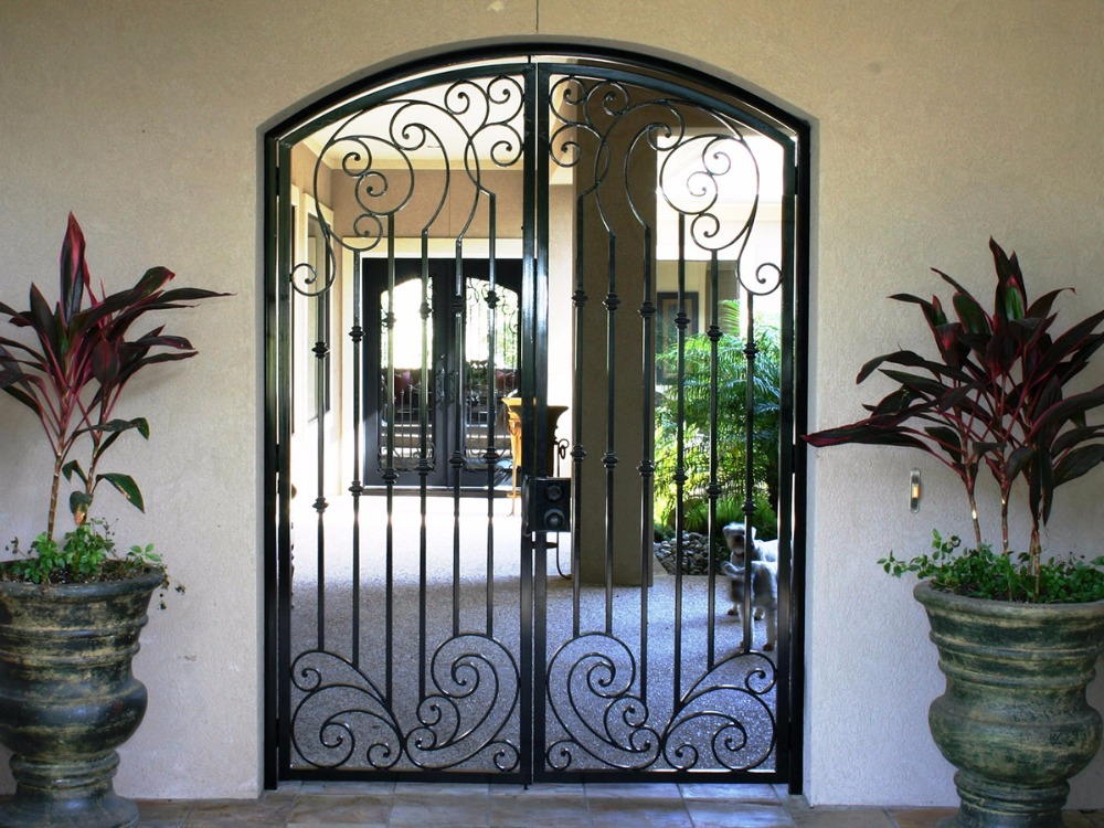 Handmade Top Villa Wrought Iron Gate One Stop Shipping To USA Hench-lg14