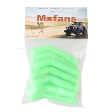 Mxfans 10x Nitro Car Lightweight 3.39 Inch Exhaust Extension Pipe Silicone Tube Red