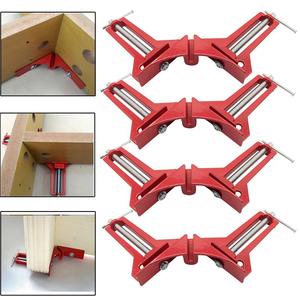 4pcs New Multifunction 90 degree Right Angle Clip Picture Frame Corner Clamp 100MM Mitre Clamps Corner Holder Woodworking tool(China)