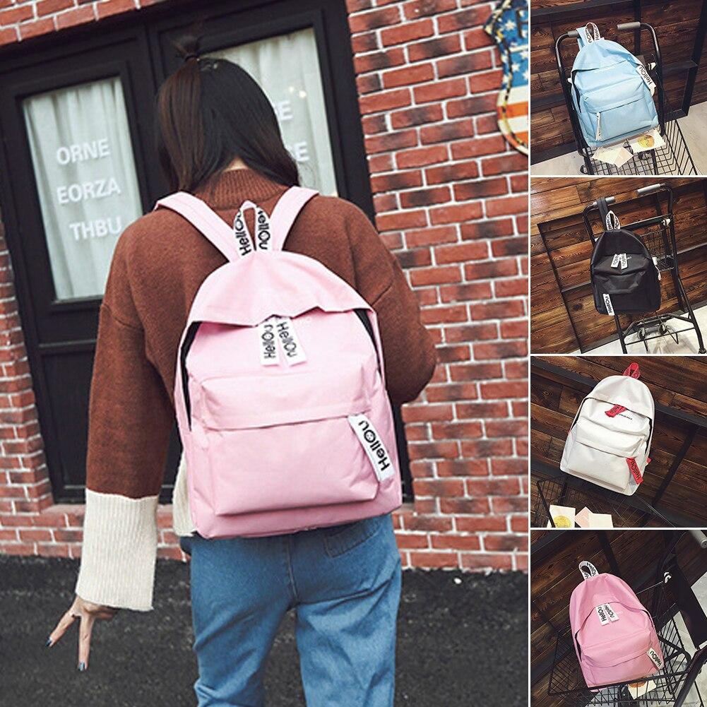 GEZICHTA Canvas Backpack,School Bag Canvas Book Bag School Backpacks Travel Backpack Satchel for boys girls (blue)