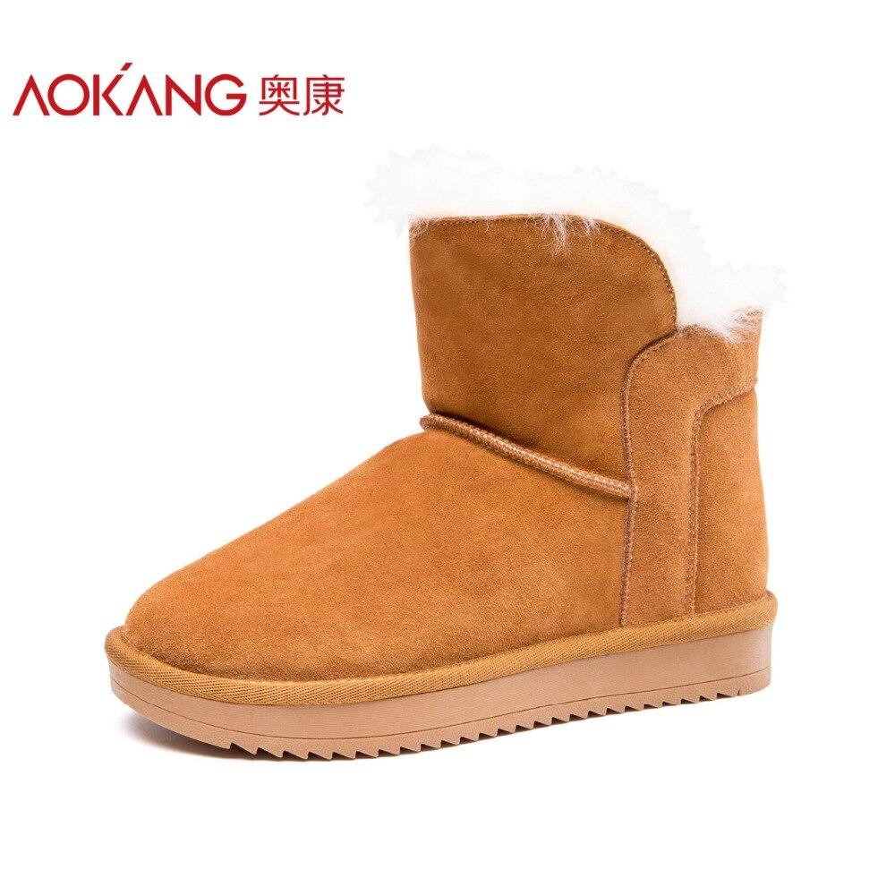 AOKANG 2017 High Quality Women Snow Boots Keep warm winter shoes women Boots Platform rubber boots only true love high quality women boots winter snow boots